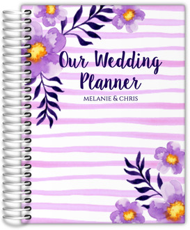 Watercolor Floral Stripes Wedding Planner
