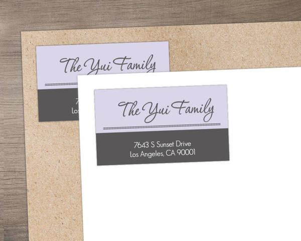 Sophisticated Gray Address Label