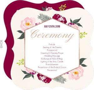Floral Boho Wedding Program