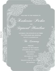White Lace Wedding Program