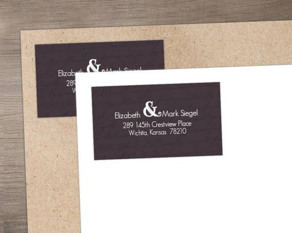 Plum and Sage Address Label
