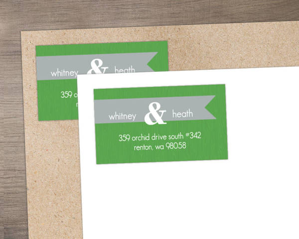 Green and Gray Modern Address Label