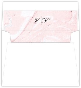 Faux Rose Gold and Blush Marble Envelope Liner