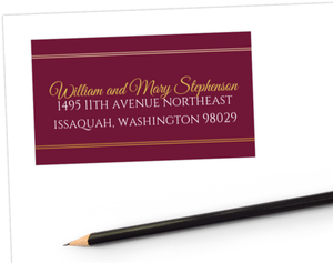 Elegant Cabernet Address Label