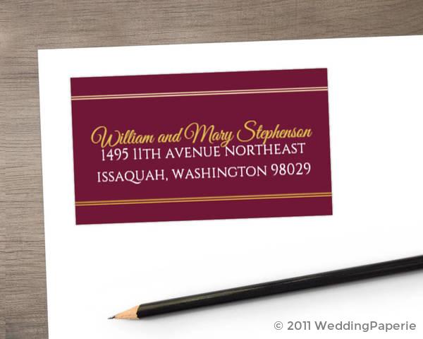Elegant Cabernet Address Label