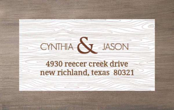 Brown Wood Texture Address Label