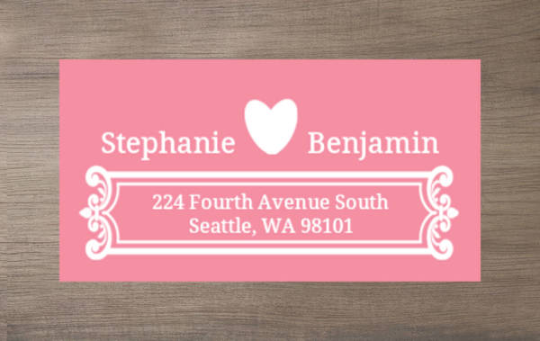 Orange and White Contemporary Address Label