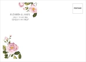 Soft Pink Flowers Envelope