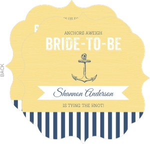 Yellow and Navy Anchor Bridal Shower Invitation