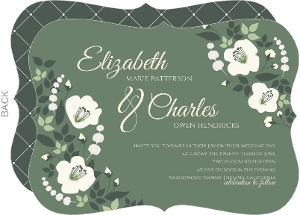 Greenery Floral Wedding Invitation