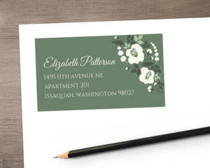 Greenery Floral Address Label