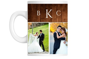 Wood Grain Keepsake Custom Mug