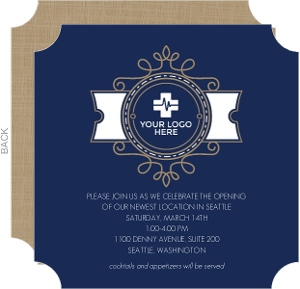Decorative Stamp Business Open House Invitation