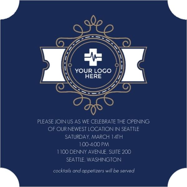 Decorative Wreath Business Open House Invitation