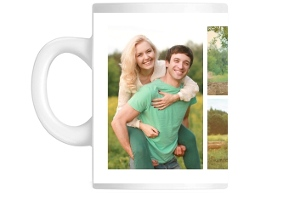 Soft Mint Green Photo Keepsake Custom Mug