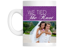 Purple Elegant Floral Pattern Custom Mug