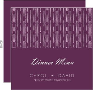 Hanging White Willow Menu Card