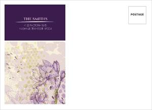 Elegant Purple Floral Custom Envelope