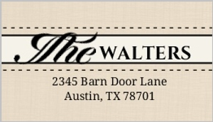 Western love address label 1014 1 big