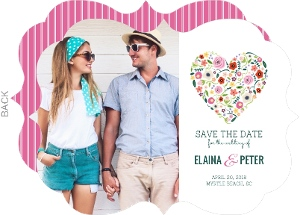 Summer Love Photo Save the Date Card