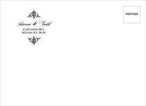 Black Floral Monogram Custom Envelope