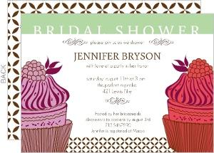 Pink Cupcake Bridal Shower Invitation