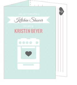 Recipe Card Bridal Shower Invite