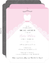 White Wedding Dress Bridal Shower Invite