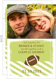 Football Couples Shower Invitation