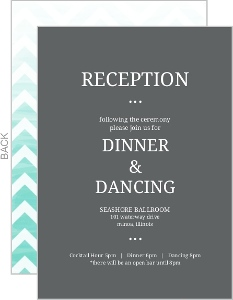 Chevron Turquoise Ombre Enclosure Card