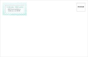Chevron Turquoise Ombre Custom Envelope