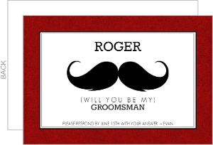 Mustache Will You Be My Groomsman Card