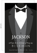 Classic Tuxedo Will You Be My Best Man Card