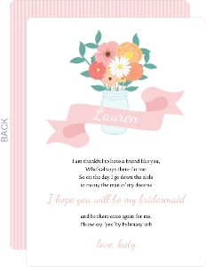 Colorful Bouquet Will You Be My Bridesmaid Card
