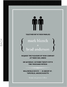 Modern Family Wedding Invite