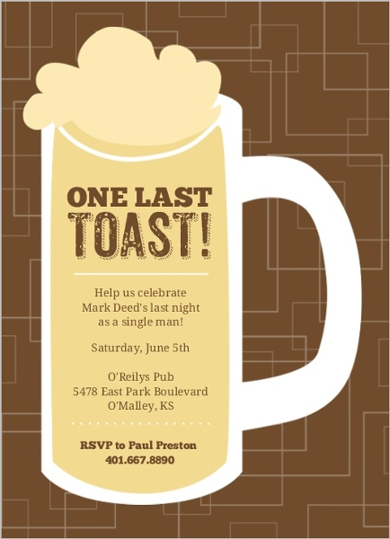 Bachelor Party Invitations Bachelor Party Invites – Beer Party Invitations