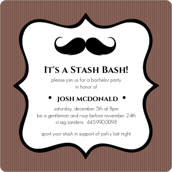 stash bash bachelor party invite | parties and showers, Party invitations