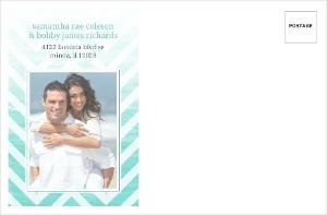 Chevron Turquoise Ombre Photo Custom Envelope