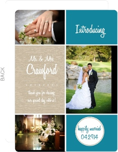Blue and Champagne Wedding Favor Magnet