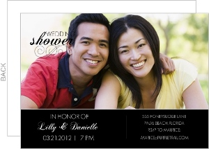 Formal Black and White Couples Shower Invite