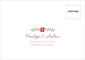 Botanical Chalkboard Flowers Mailing Envelope