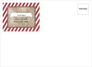 Red Stripe Rustic Pirate Custom Envelope