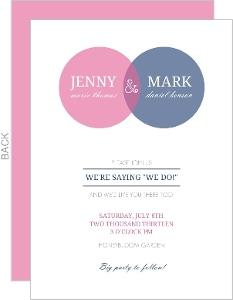 Simple Circle Monogram Wedding Invitation