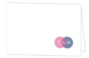 Simple Circle Monogram Thank You Card