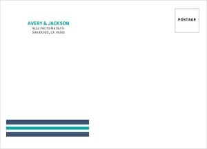 Blue Nautical Anchor Custom Envelope