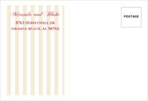 Pink Romantic Flowers Custom Envelope