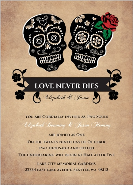 Halloween Wedding Invitations Halloween Wedding Invites – Halloween Wedding Reception Invitations