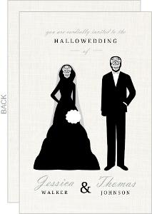 Elegant and Creepy Bride and Groom Wedding Invitation