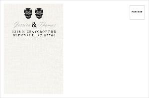 Elegant and Creepy Bride and Groom Envelope