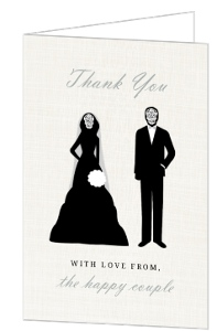 Elegant and Creepy Bride and Groom Thank You Card